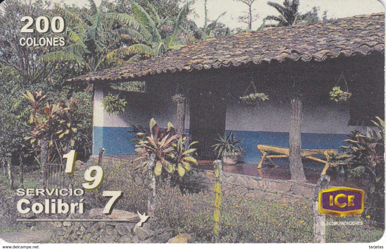 TARJETA DE COSTA RICA DE UNA CASONA TIPICA ESCAZU - Costa Rica