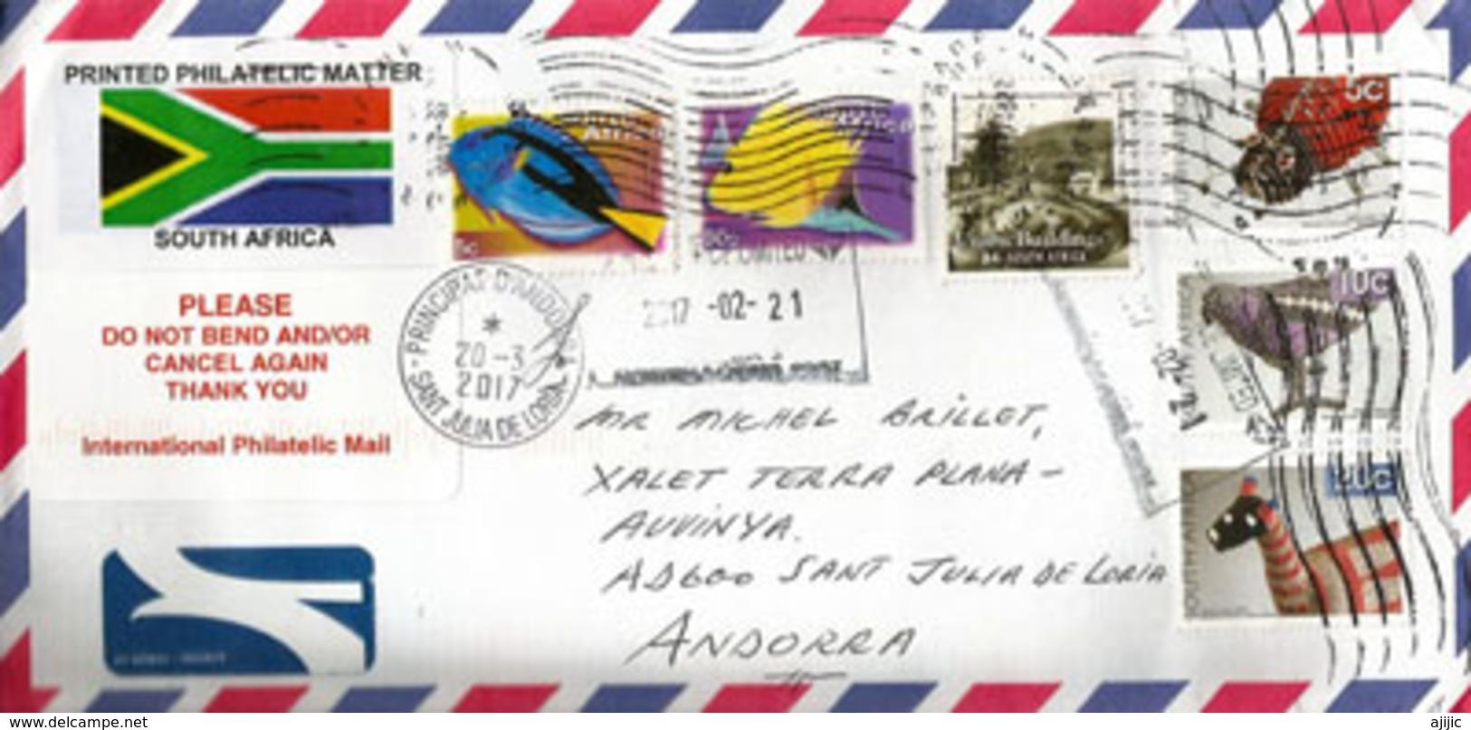 Lettre Philatélique D'Afrique Du Sud, Adressée ANDORRA, Avec Timbre à Date Arrivée - Lettres & Documents