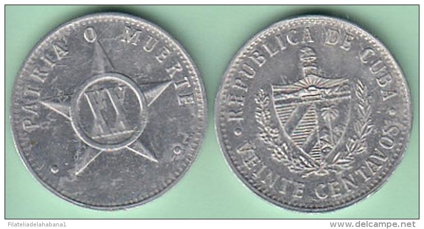 2001-MN-105 CUBA 2001 ERROR WITHOUT YEAR 20c ALUMINIUM. XF PLUS. - Cuba