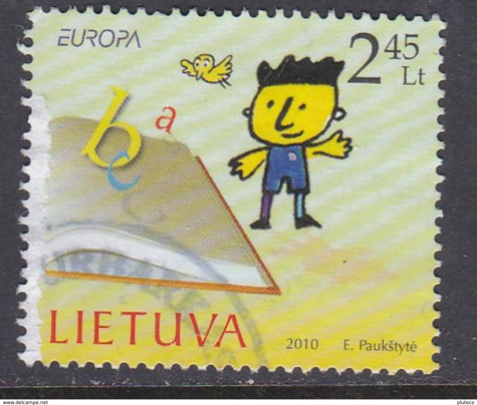 LITUANIA, USED STAMP, OBLITERÉ, SELLO USADO, EUROPA CEPT - Lithuania