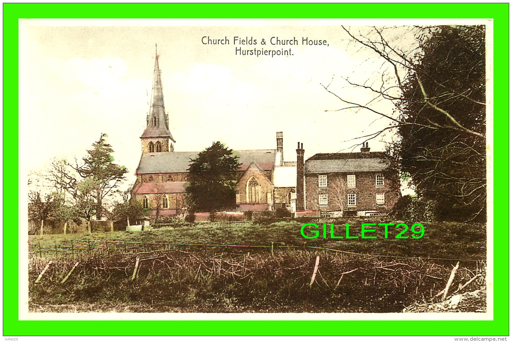 HURSTPIERPOINT, UK - CHURCH FIELDS & CHURCH HOUSE - - Angleterre