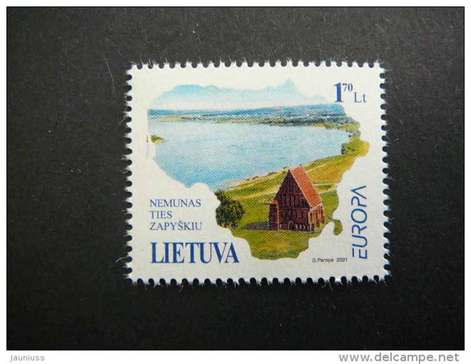Europa.Water - Natural Treasure.Without Glue. Lietuva Litauen Lituanie Litouwen Lithuania 2001 MNH # Mi. 757 - Lithuania