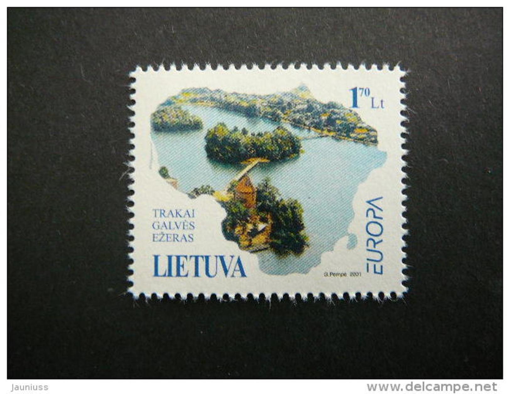 Europa.Water - Natural Treasure.Without Glue. Lietuva Litauen Lituanie Litouwen Lithuania 2001 MNH # Mi. 756 - Lithuania