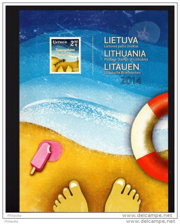 2014 Lithuania -Year Set In Folder - As Issued By Lithuanian Post - Lithuania