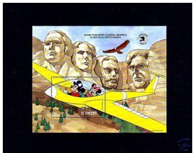 ST VINCENT - 1989 - DISNEY - MICKEY - MINNIE - MT RUSHMORE - MINT S/SHEET! - Cinema