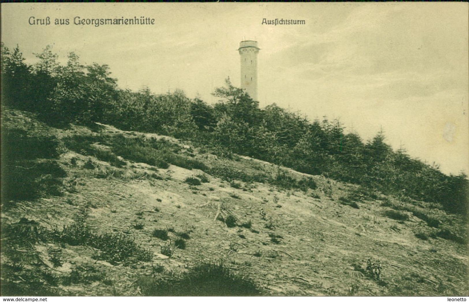 AK Georgsmarienhütte, Aussichtsturm, O 1909 (5488) - Georgsmarienhuette