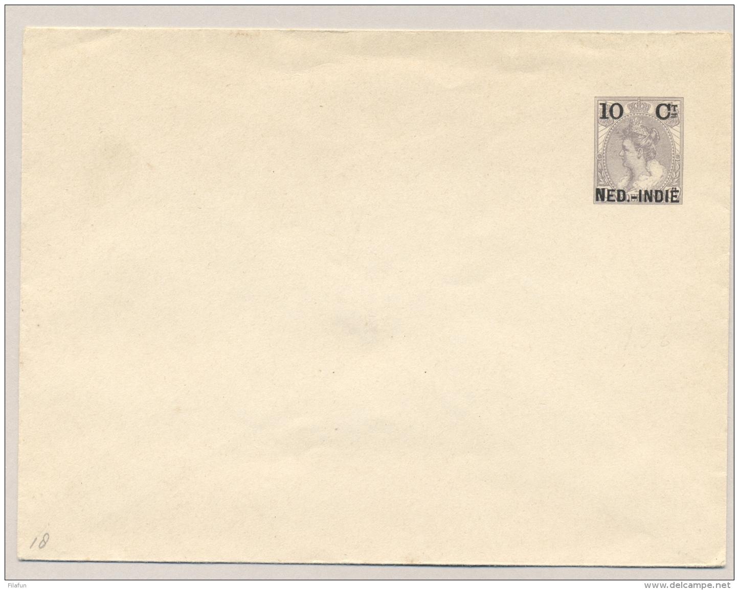 Nederlands Indië - 1903 - 10 Cent Opdruk Op 10 Cent Bontkraag, Envelop G18, Ongebruikt / Unused - Indes Néerlandaises