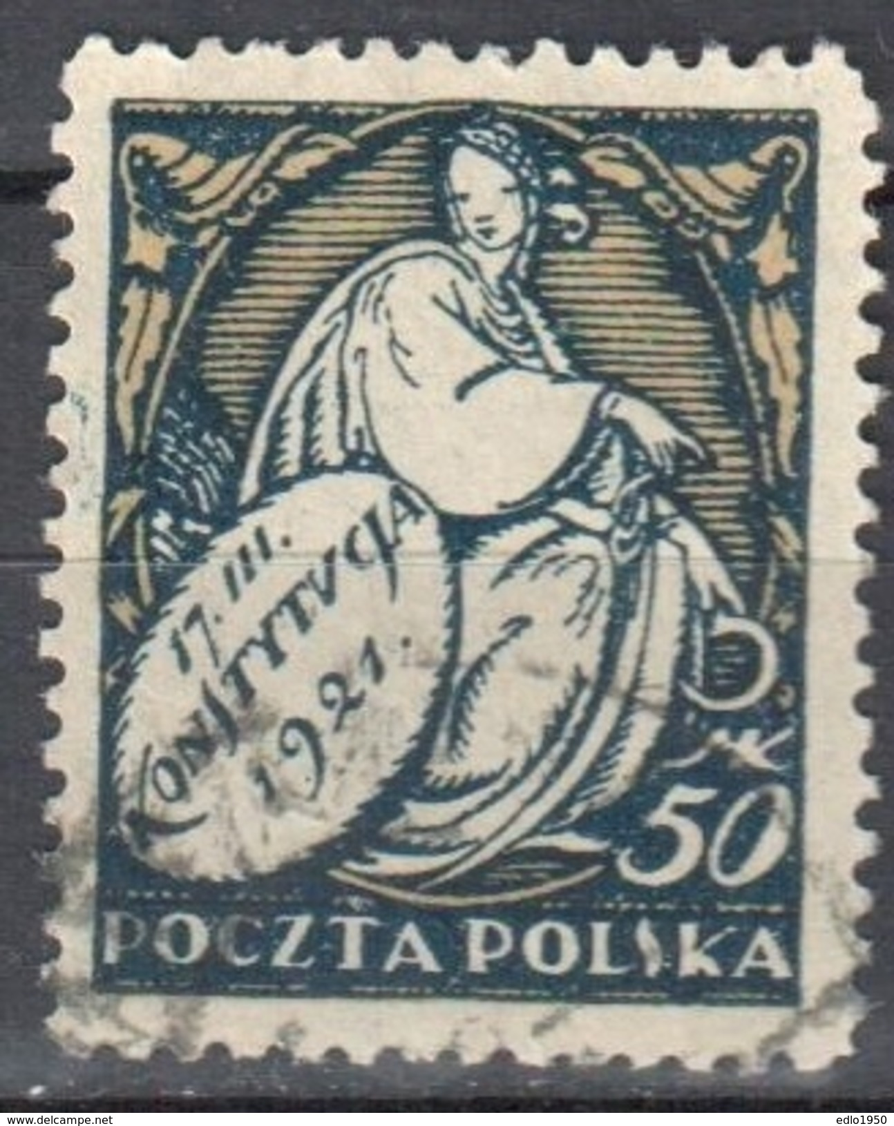 Poland 1921 - Issued To Commemorate The Constitution - Mi. 170- Used - Gebraucht