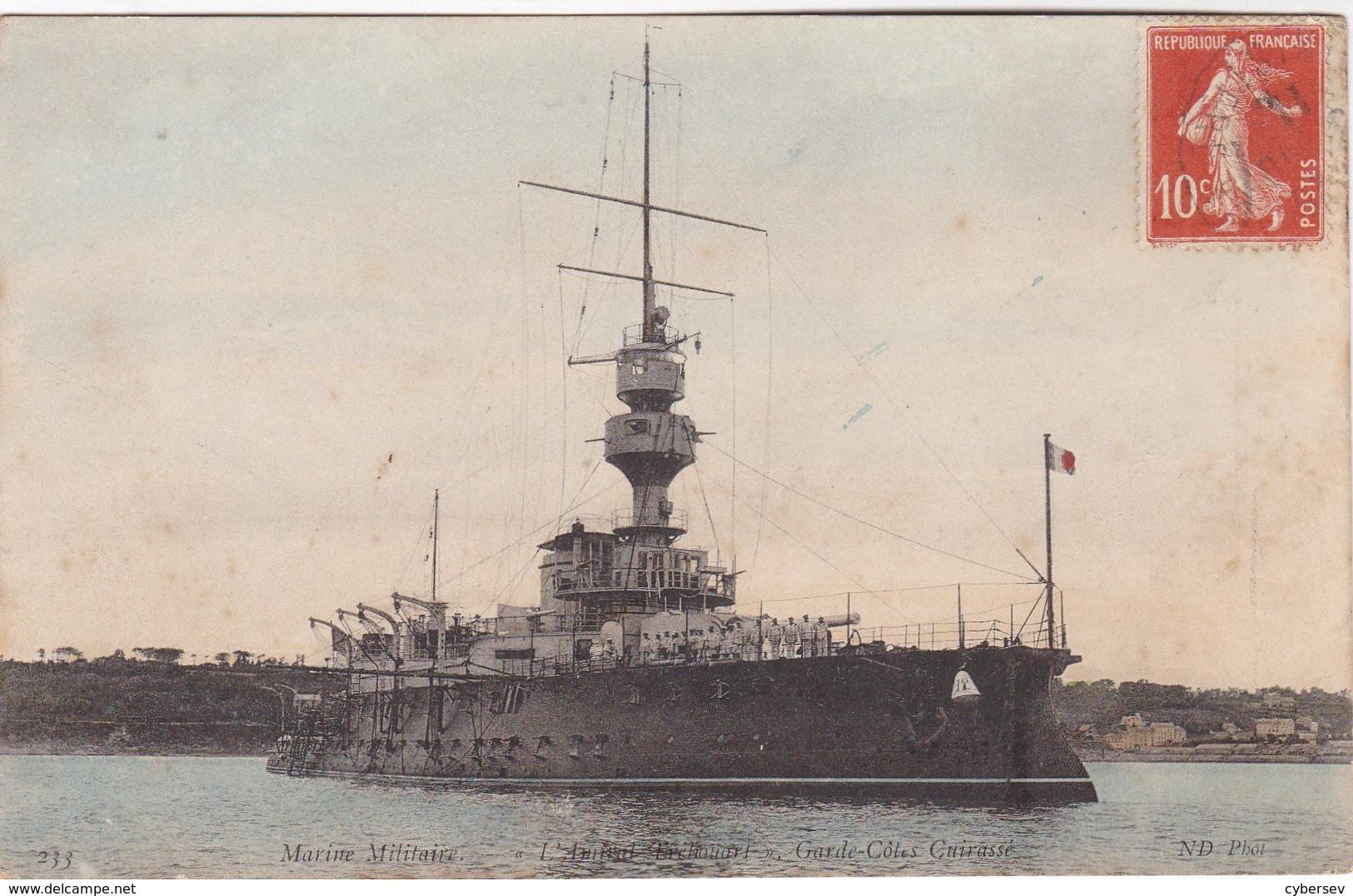 MARINE MILITAIRE - Garde Côtes Cuirassé - Boats