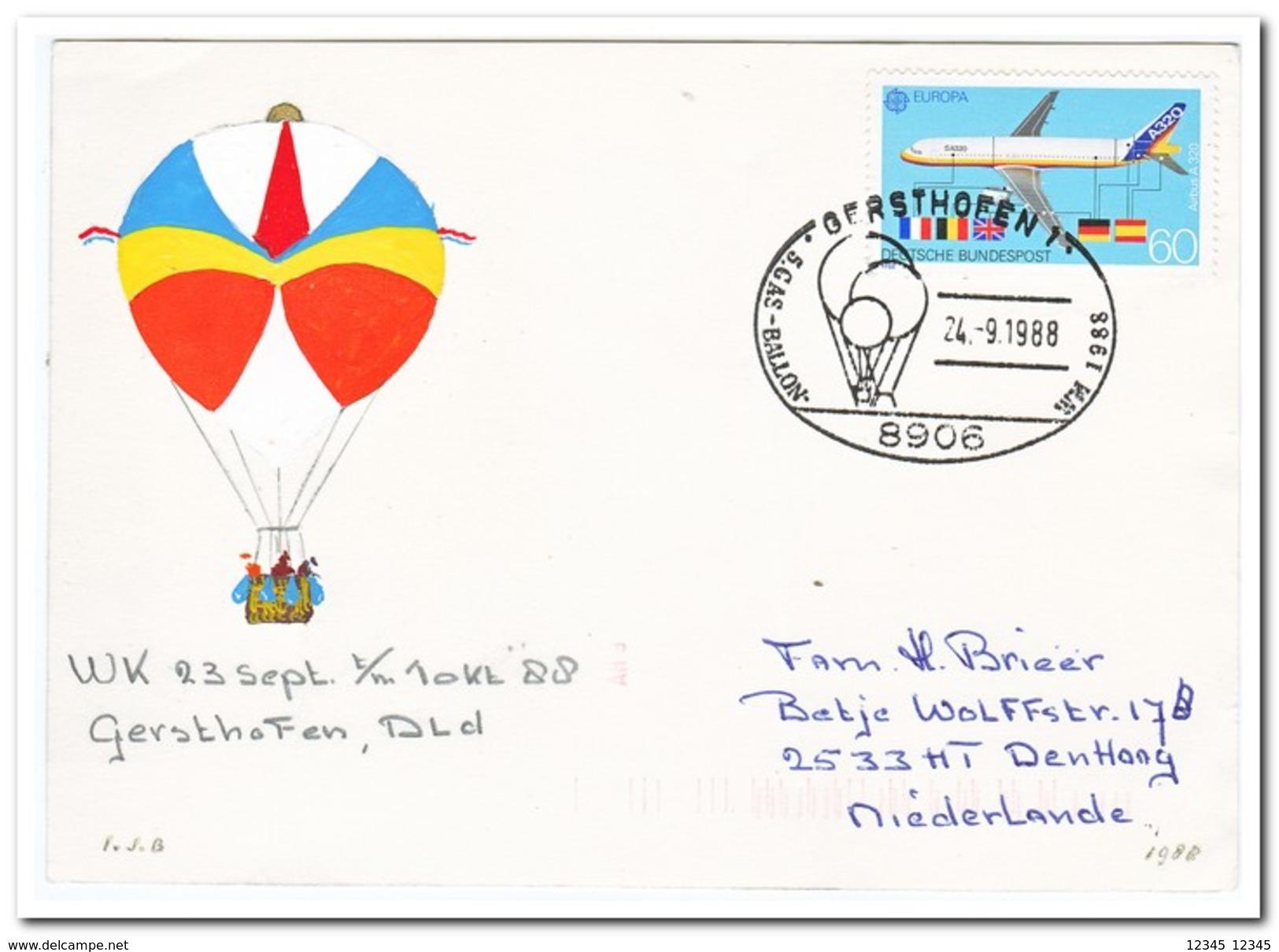 WM, WK, Gersthofen 23-9 T/m 1-10 1988 ( Gevouwen, Gefalted ) - Luchtballons