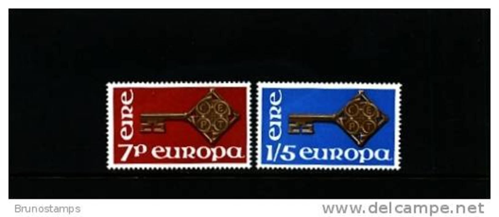 IRELAND/EIRE - 1968  EUROPA  SET MINT NH - 1949-... Repubblica D'Irlanda