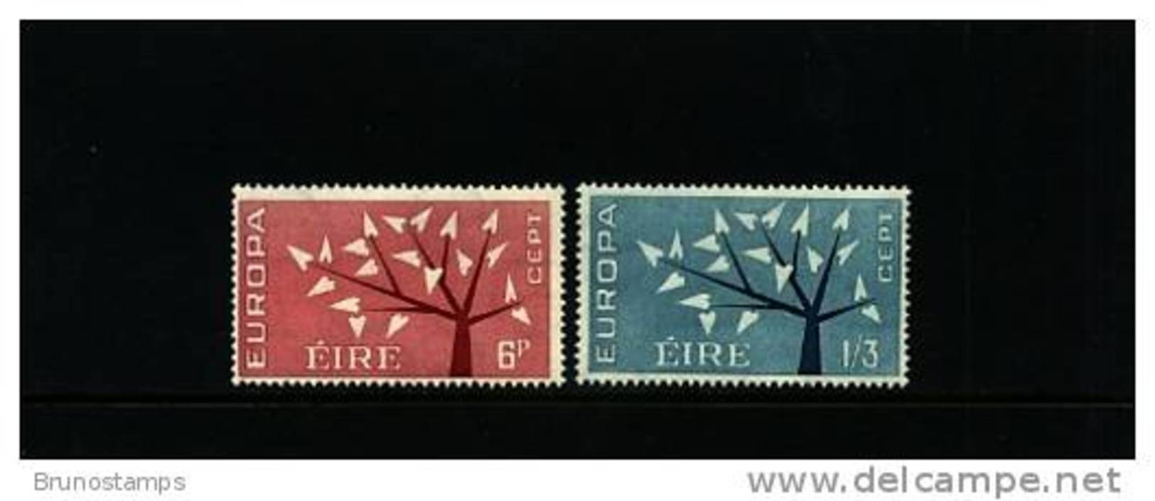 IRELAND/EIRE - 1962  EUROPA   SET MINT NH - 1949-... Repubblica D'Irlanda