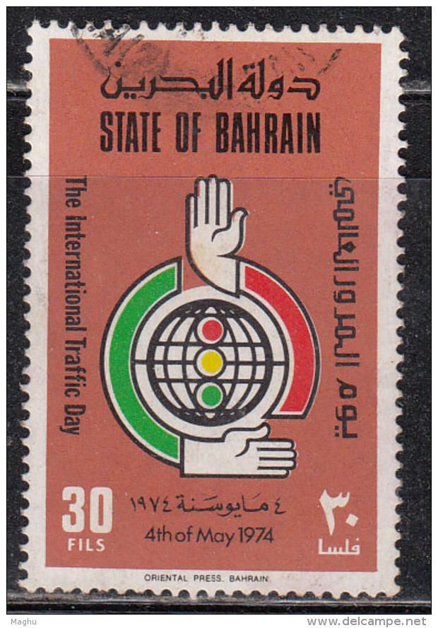 30f Used Bahrain 1974, Traffic Day, - Bahreïn (1965-...)