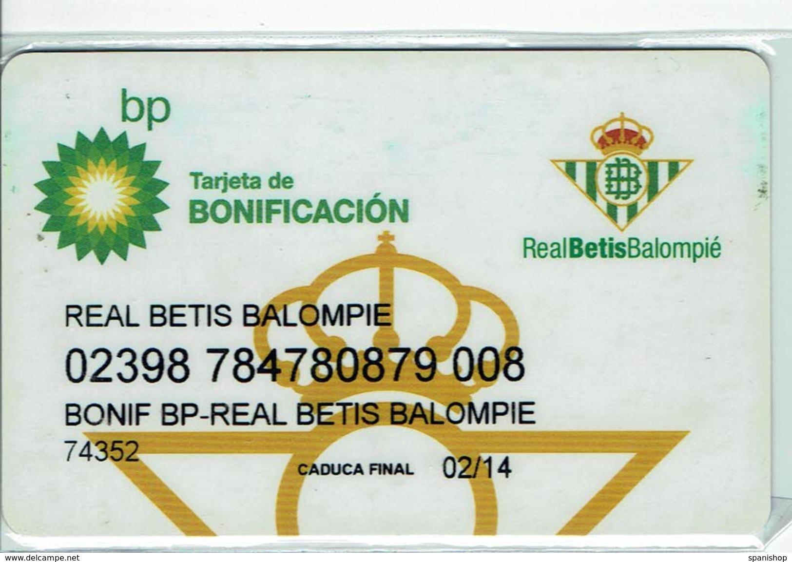 Gas Oil BP Petroleum Card - Limited Edition Football Team Real Betis - Telefonkarten