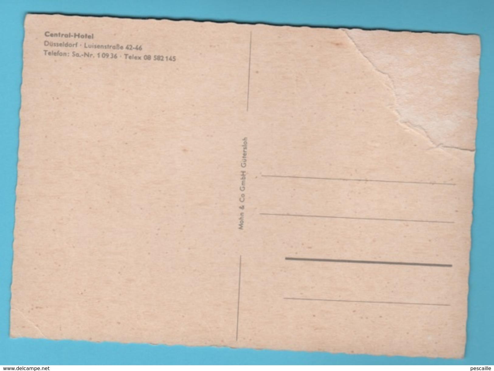 NORDRHEIN WESTFALEN - CP CENTRAL HOTEL DÜSSELDORF LUISENSTRAßE 42-46 - MAHN & Co GMBH GÜTERSLOH - AUTOS CITROËN DS Etc - Duesseldorf