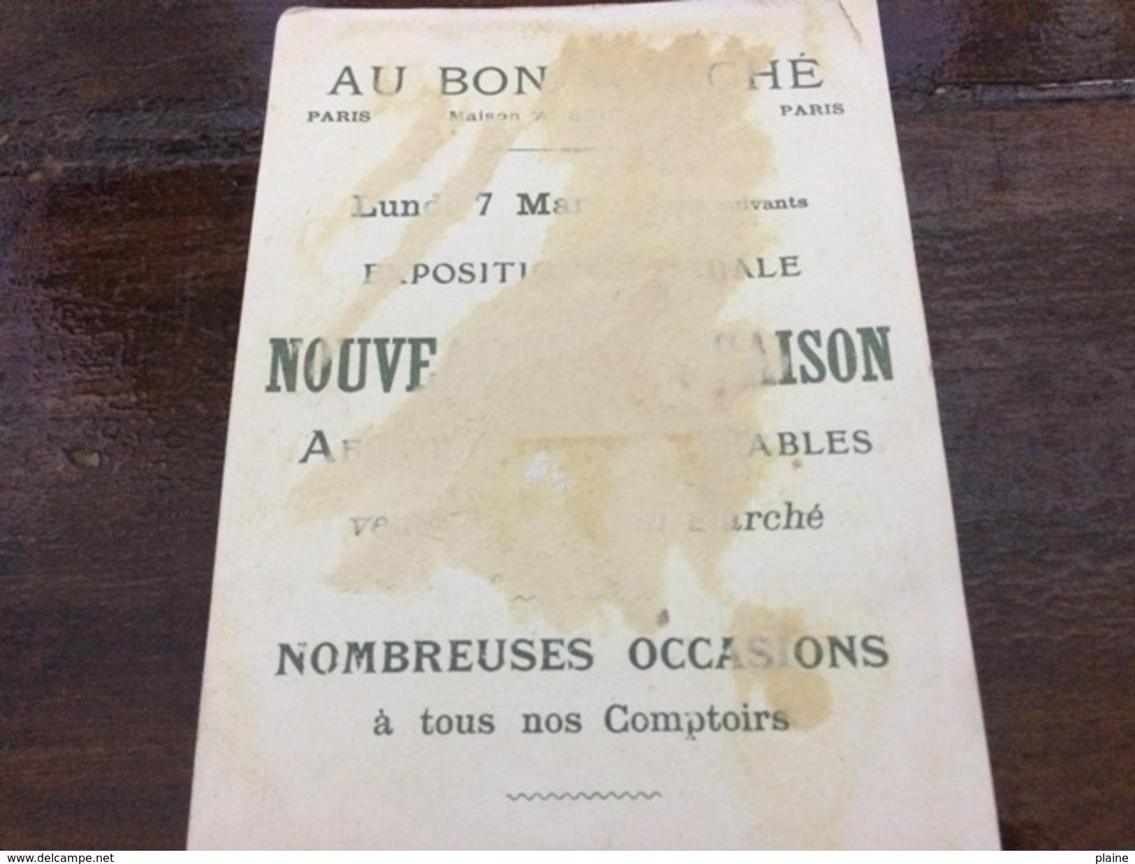 CHROMO- AU BON MARCHE-LES MOIS - Au Bon Marché