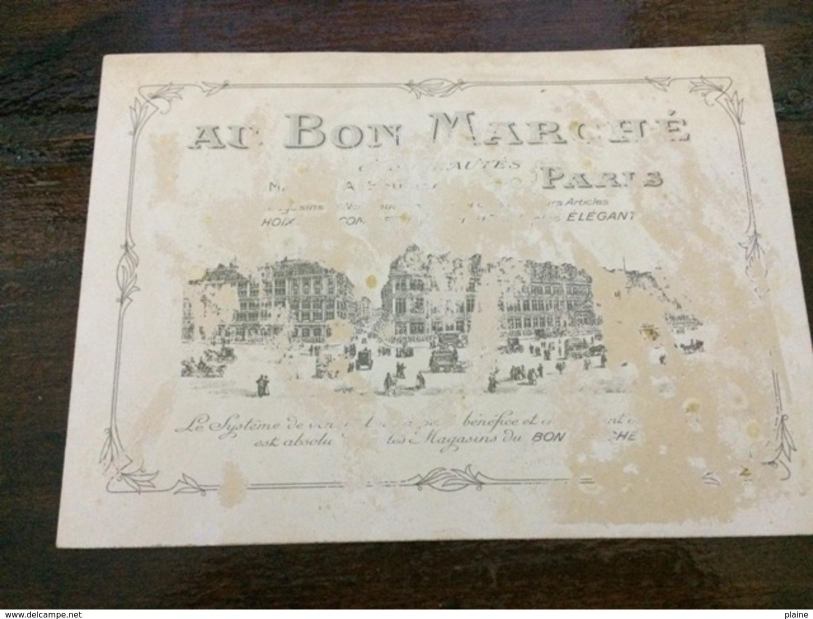 CHROMO- AU BON MARCHE-LA CHUTE - Au Bon Marché