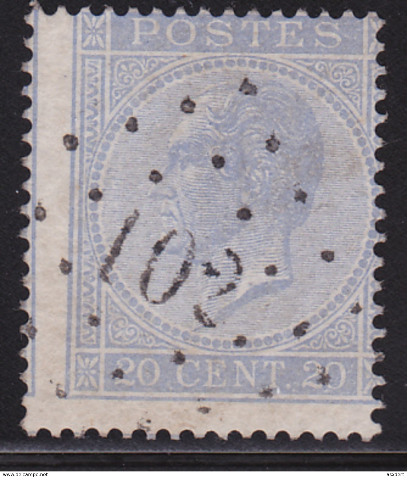 18 LP. 102 - DUFFEL  Coba+8 - 1865-1866 Profil Gauche