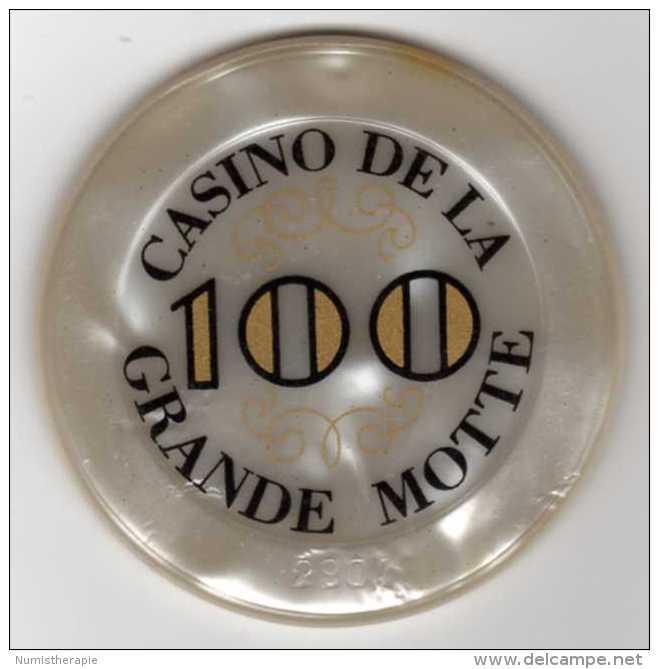 Casino De La Grande Motte : Jeton De 100 Francs - Casino