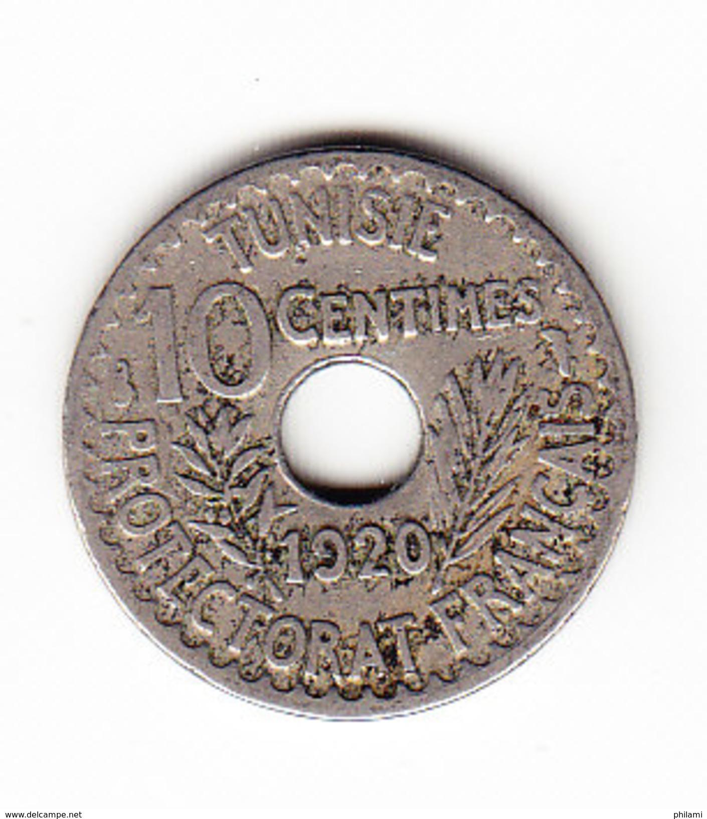 TUNISIE KM 243, 10Ct, 1920.  (3SP2) - Tunisie