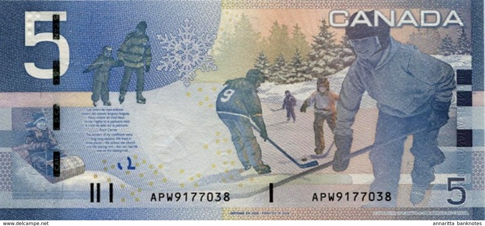 KANADA 5 DOLLARS 2006 (2008) P-101Ab I (BFR) SIGN. JENKINS & CARNEY [CA366b] - Canada