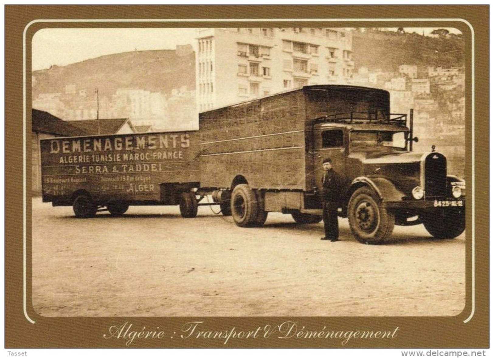 Camion Delahaye Diesel  Avec Remorque 70m3 Des Transports Corse Serra & Taddéi 19 Bld Bugeau Alger - Professions