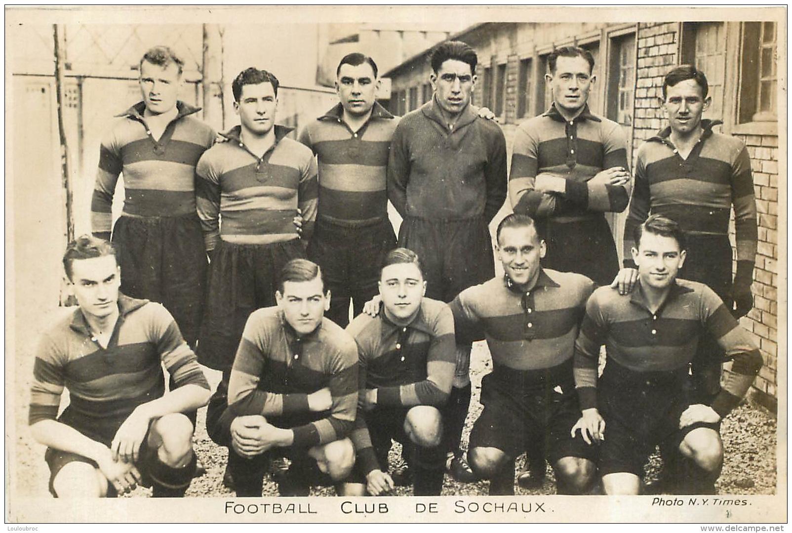 FOOTBALL CLUB DE SOCHAUX  PHOTO FORMAT CPA - Sochaux