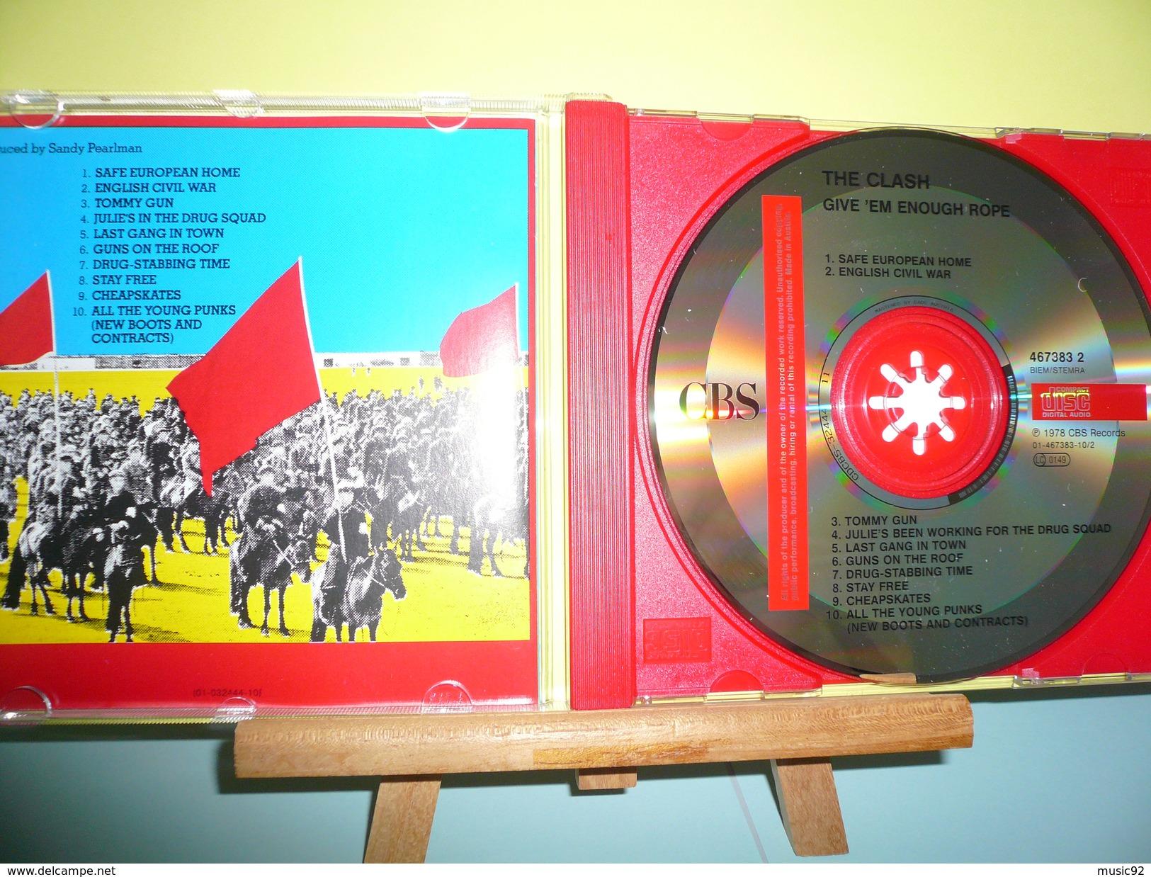 "THE CLASH""CD ALBUM"" GIVE 'EM ENOUGH ROPE"" - Rock"