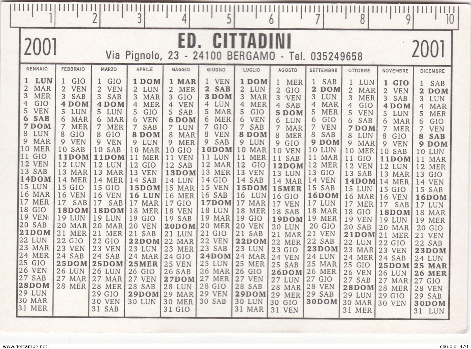 Calendario - Formato Piccolo .2001 - Porta S.giacomo .bergamo - Calendari
