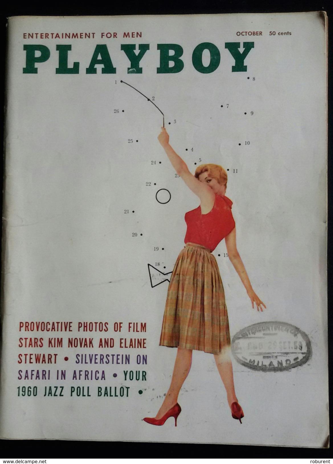 RIVISTA AMERICANA - PLAYBOY - OCTOBER 1959 - 232 E. HOIO ST. CHICAGO 11,ILLINOIS (AUTENTICA NO RISTAMPA) - Libri, Riviste, Fumetti