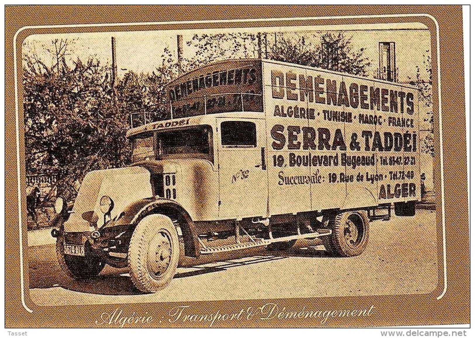Camion Transports Et Déménagements Corse En AFN - Camion  Fourgon 26 M3 - Serra & Taddéi Années 30/40 - Algiers