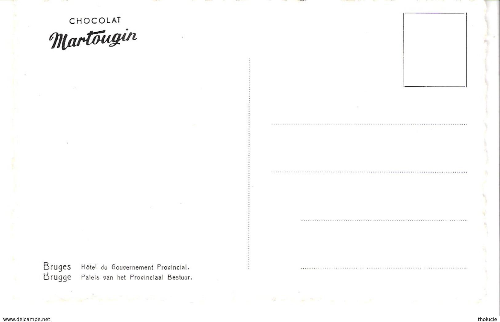 Publicité-Chocolat Martougin-Brugge-Bruges-Paleis Van Het Provinciaal Bestuur-Vieilles Voitures- Oldtimers-Vintage Cars - Werbepostkarten