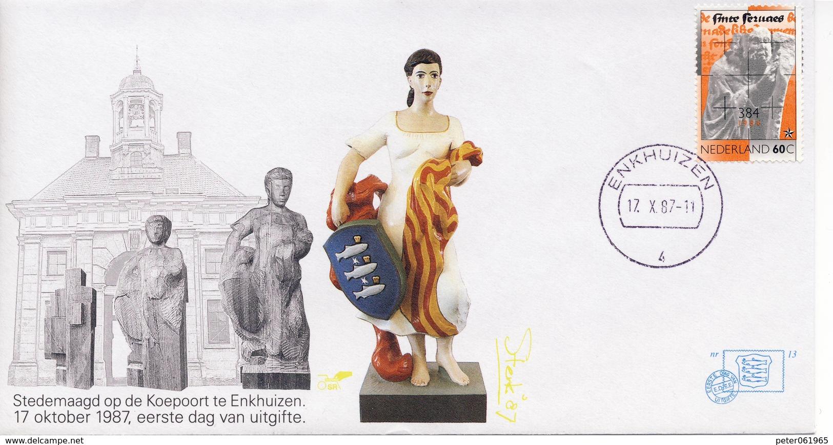 Enkhuizen Nr. 13 - 1987 - Blanco / Open Klep - Period 1980-... (Beatrix)