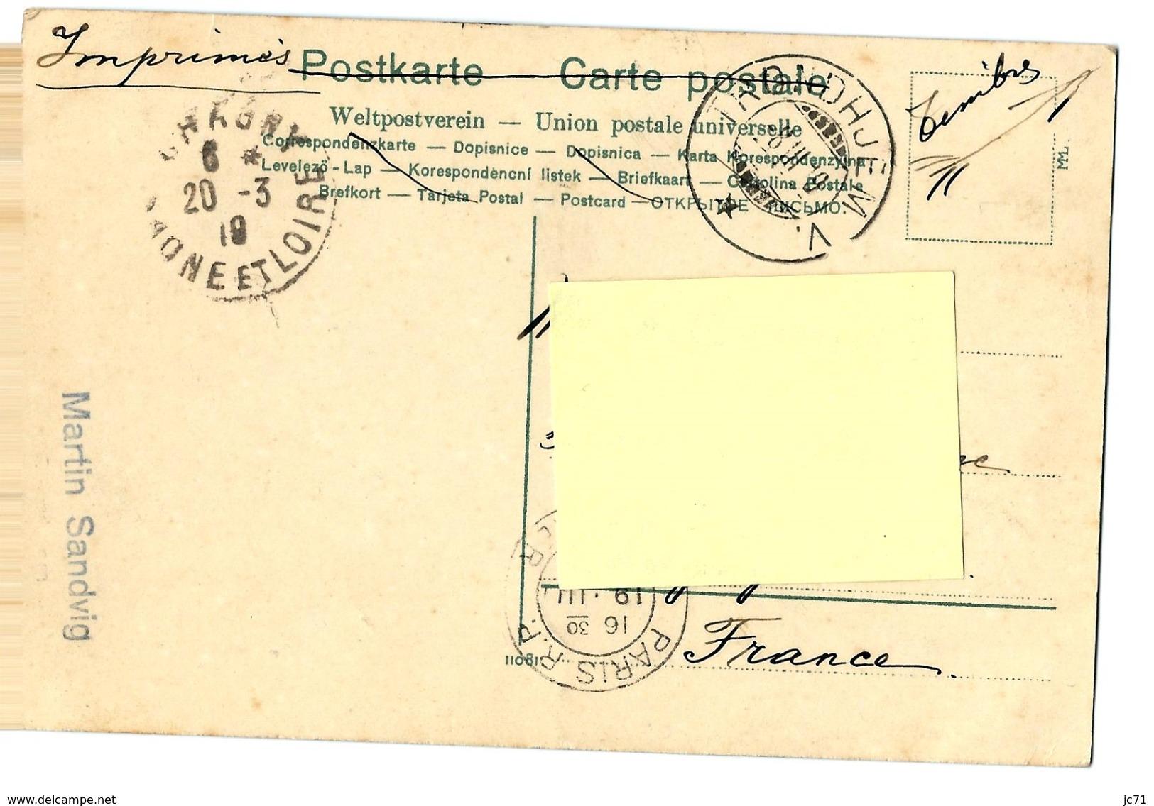 Norvège - Trondhuem - Fra Saetersdalen. Belle CPA - 1919 - - Norvegia