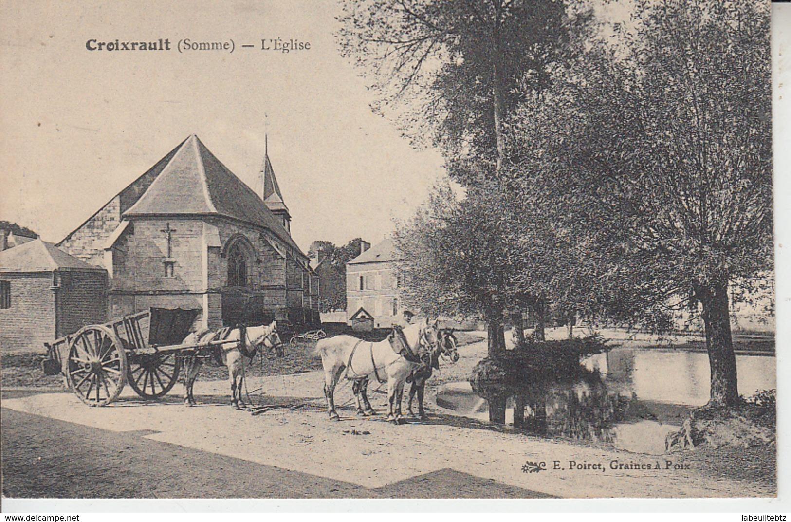 CROIXRAULT ( Somme ) - L'église  PRIX FIXE - France