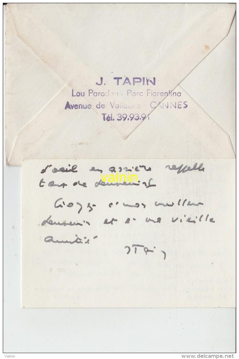 Enveloppe Timbrée Cannes   Pour Athies Pas De Calais - Marcophilie (Lettres)