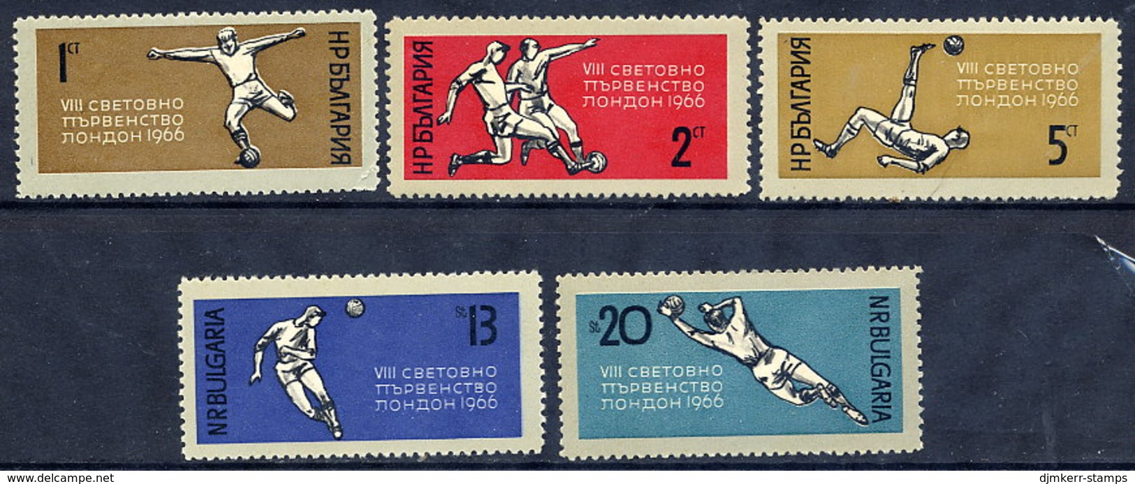 BULGARIA 1966 Football Word Cup, England: Set And Block  MNH / **.  Michel 1633-37 + Block 18 - Bulgaria