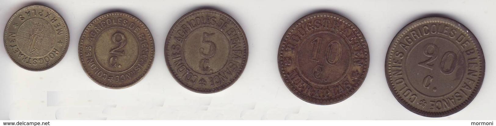 Belgique - Hoogstraten Merxplas - Prison - Colonie Agricole - 1, 2, 5, 10, 20 Cent. - Belgique