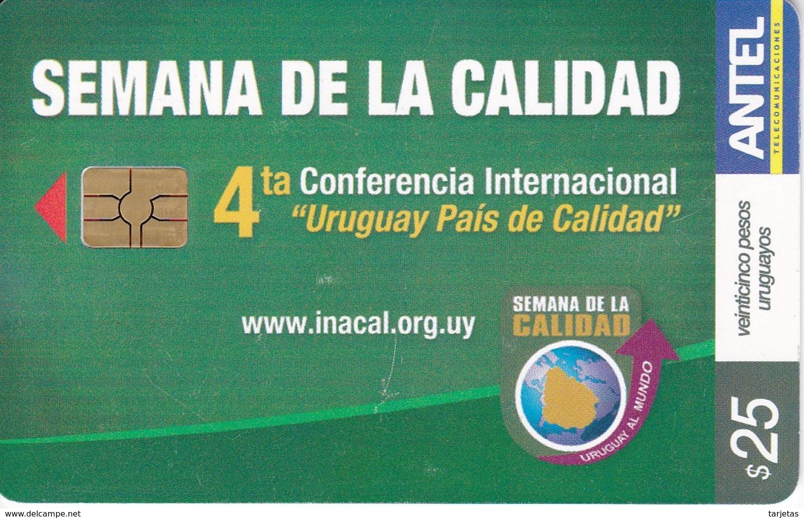 Nº 512 TARJETA DE URUGUAY DE LA SEMANA DE LA CALIDAD - Uruguay