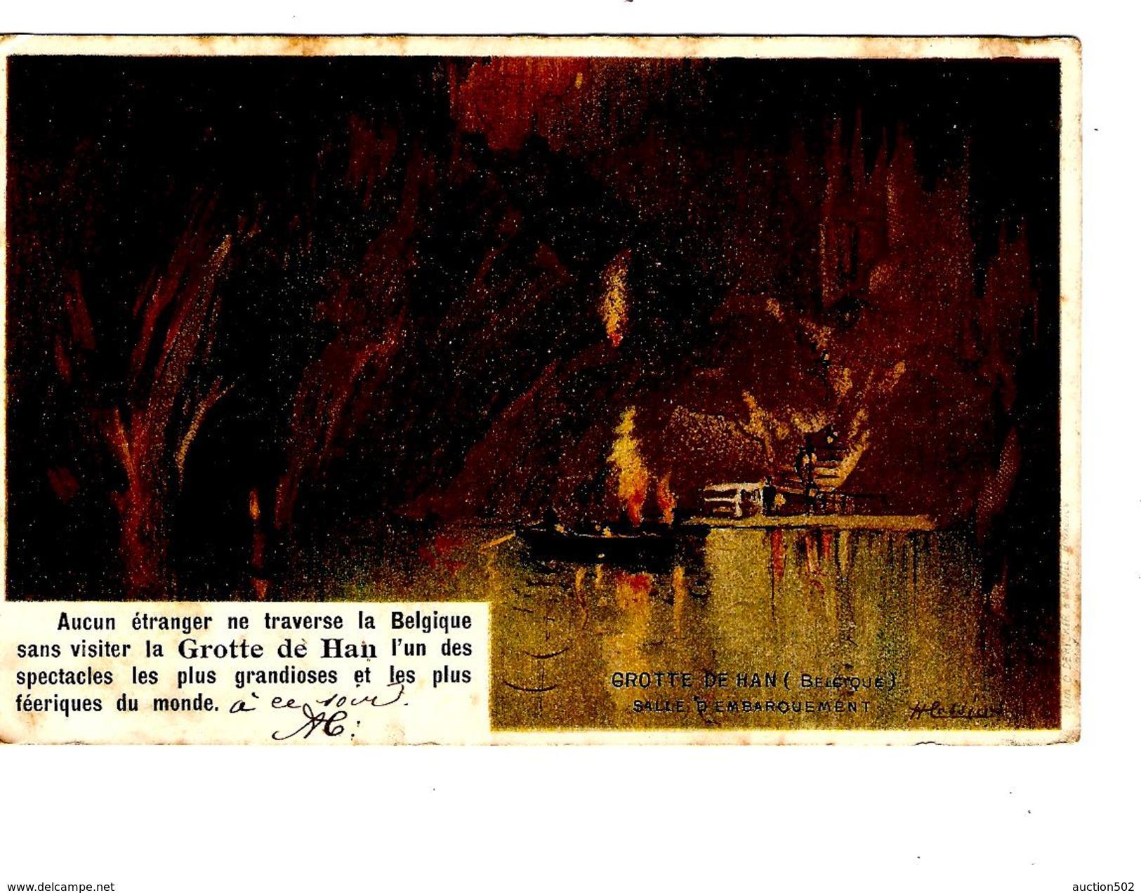TP 53 S/CP Grotte De Han Roulette Bruxelles 1902 V.Tilleur PR4299 - Roller Precancels 1900-09