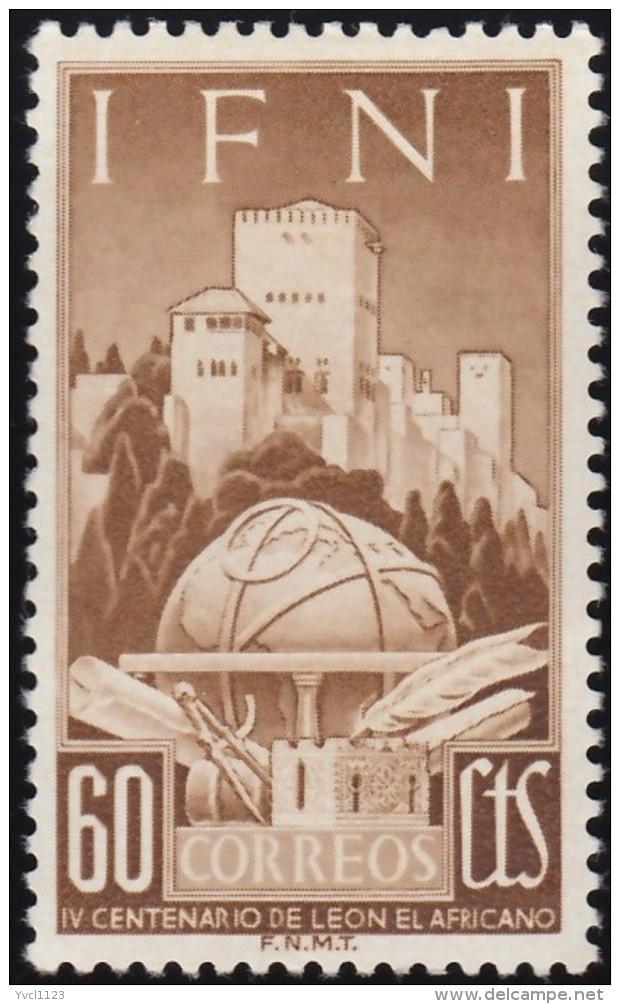 IFNI - Scott #56 Death Of Geographen León, 400th Anniversary / Mint H Stamp - Ifni