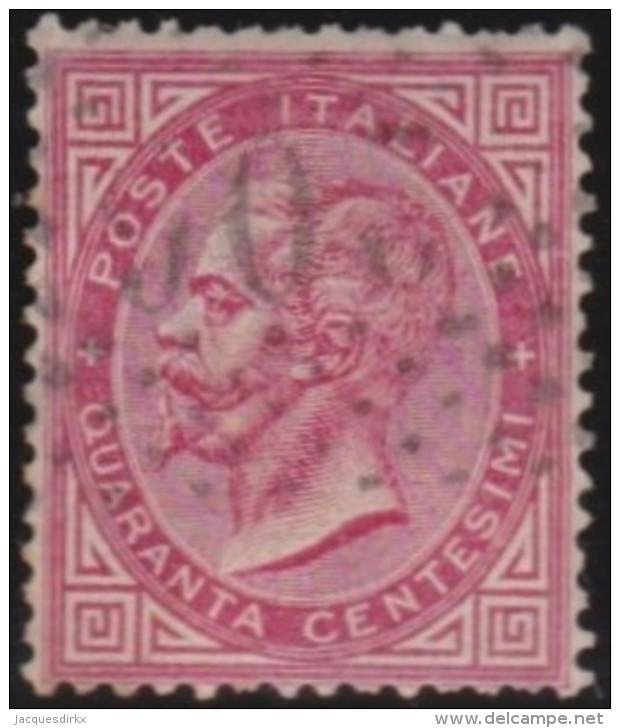 Italy       .     Yvert    .     19      .     O      .           Gebruikt   . /   .     Cancelled - 1861-78 Victor Emmanuel II