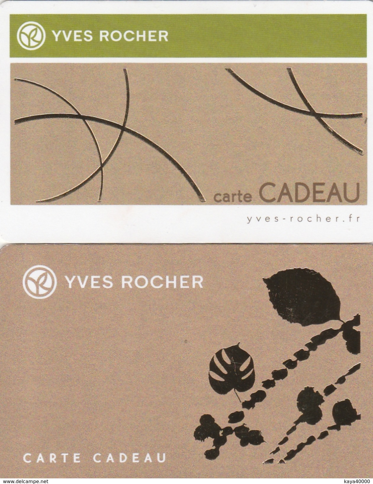 ## Carte  Cadeau   YVES ROCHER   ##  (France)   Gift Card, Giftcart, Carta Regalo, Cadeaukaart - Cartes Cadeaux