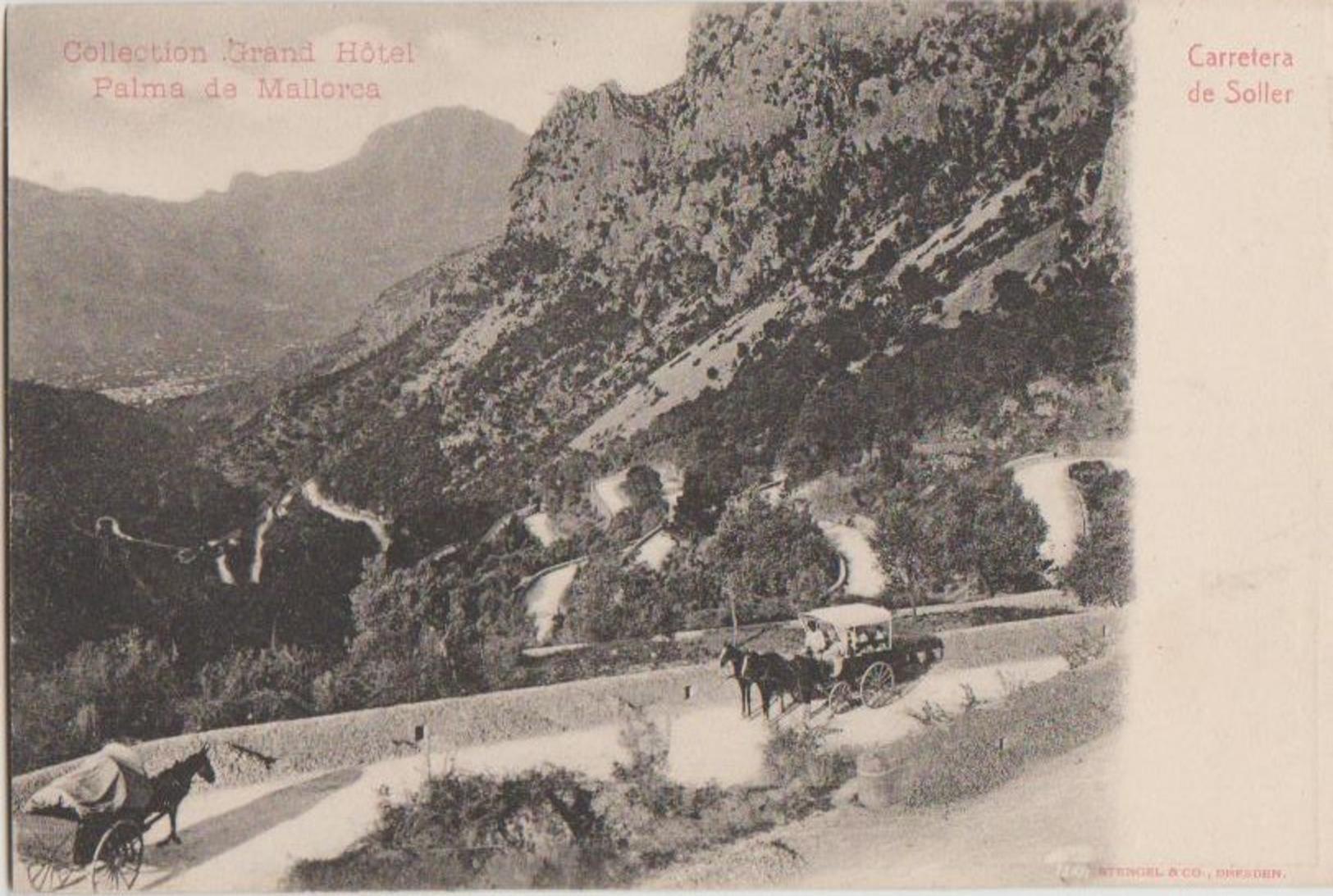 CPA ESPAGNE SOLLER Carretera Collection Grand Hôtel Palma De Mallorca 1904 - Mallorca
