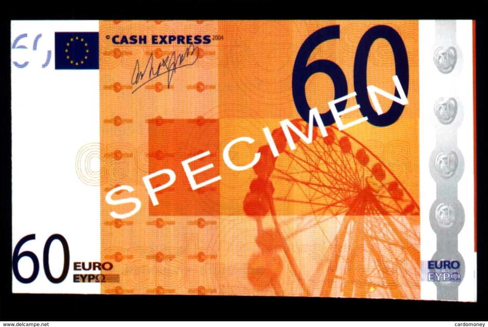 Billet Publicitaire 60 Euros CASH EXPRESS (art. N° 557) - EURO