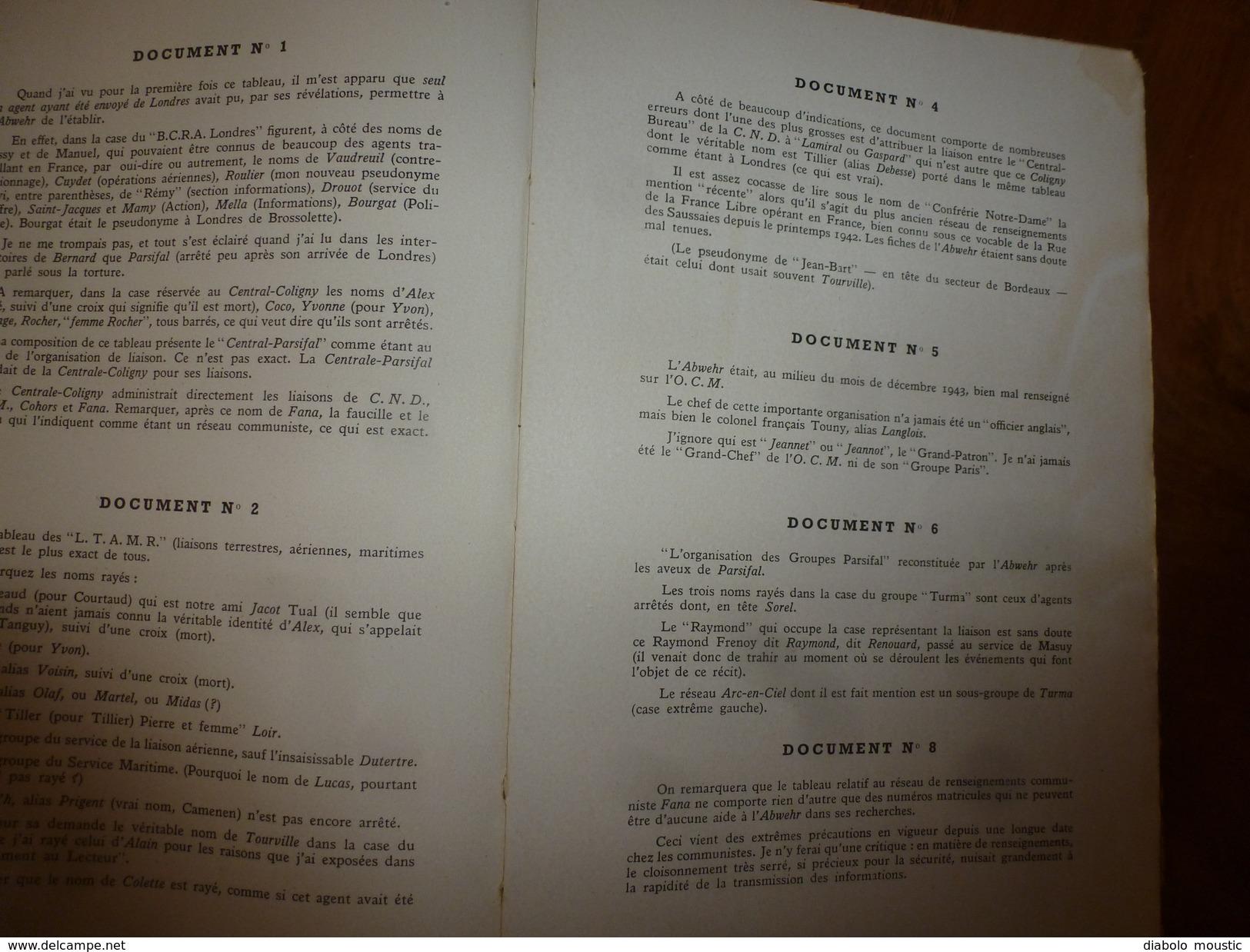 1947 UNE AFFAIRE DE TRAHISON Par REMY Dédicacé à Charles Breton CHEF RESISTANT,pour Service Rendu à L'OCM,photographies - Books