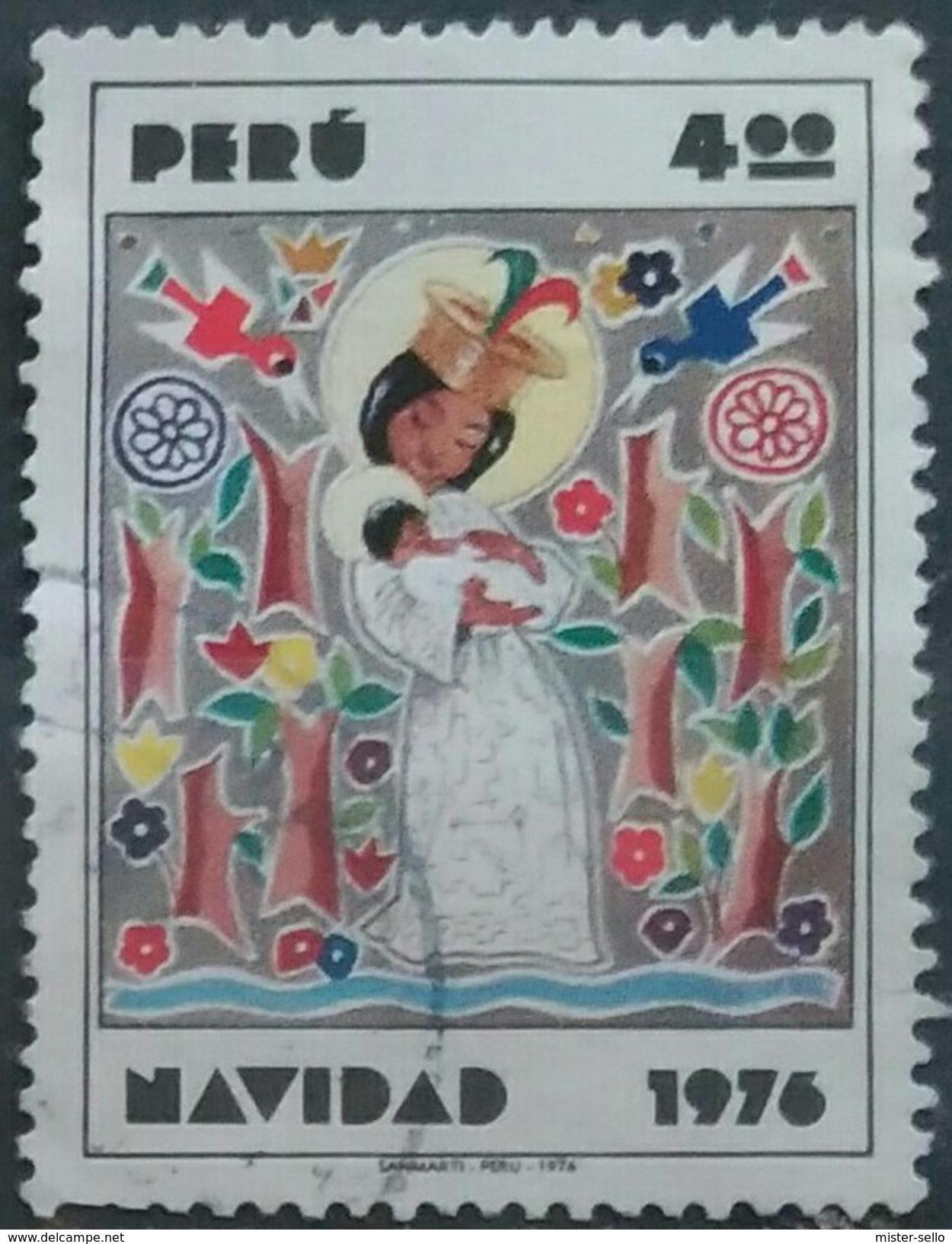 PERÚ 1976 Navidad. USADO - USED. - Peru