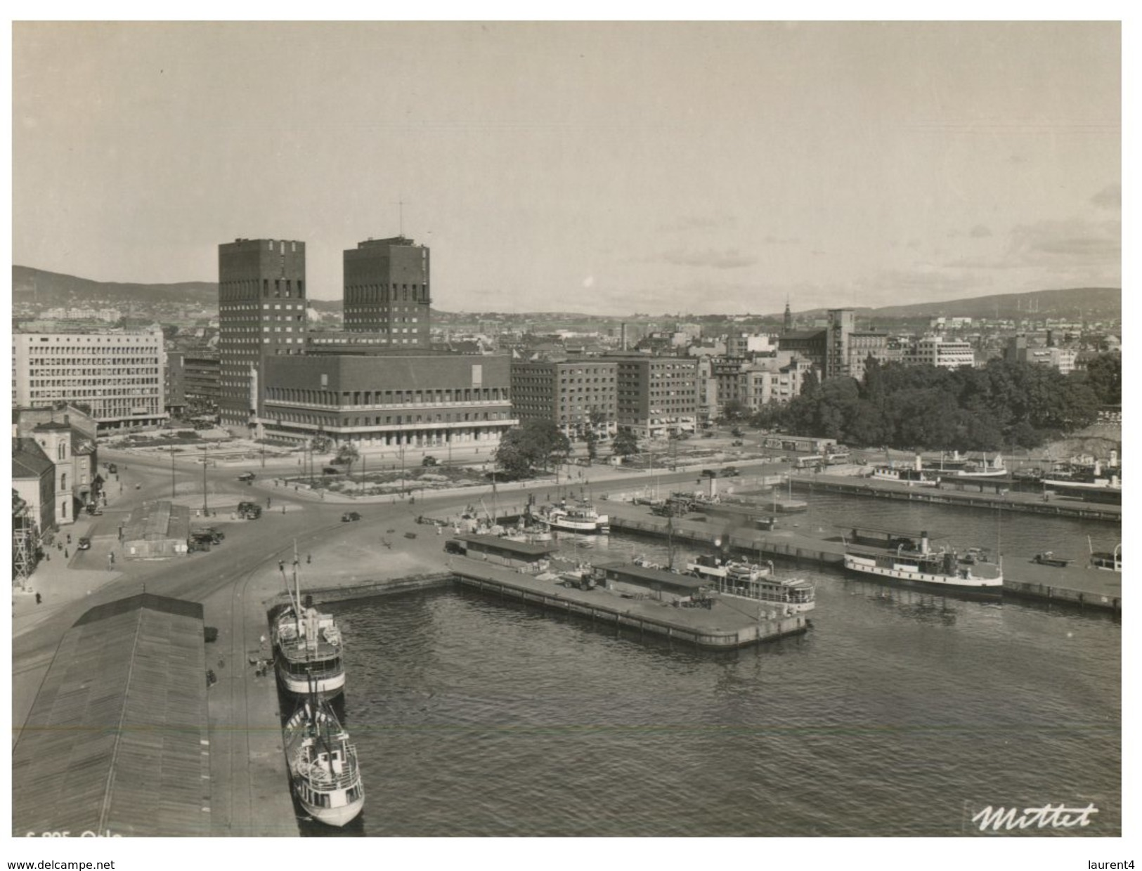 (3010) Norway -  (older Card) - Oslo Port And Ship - Norway