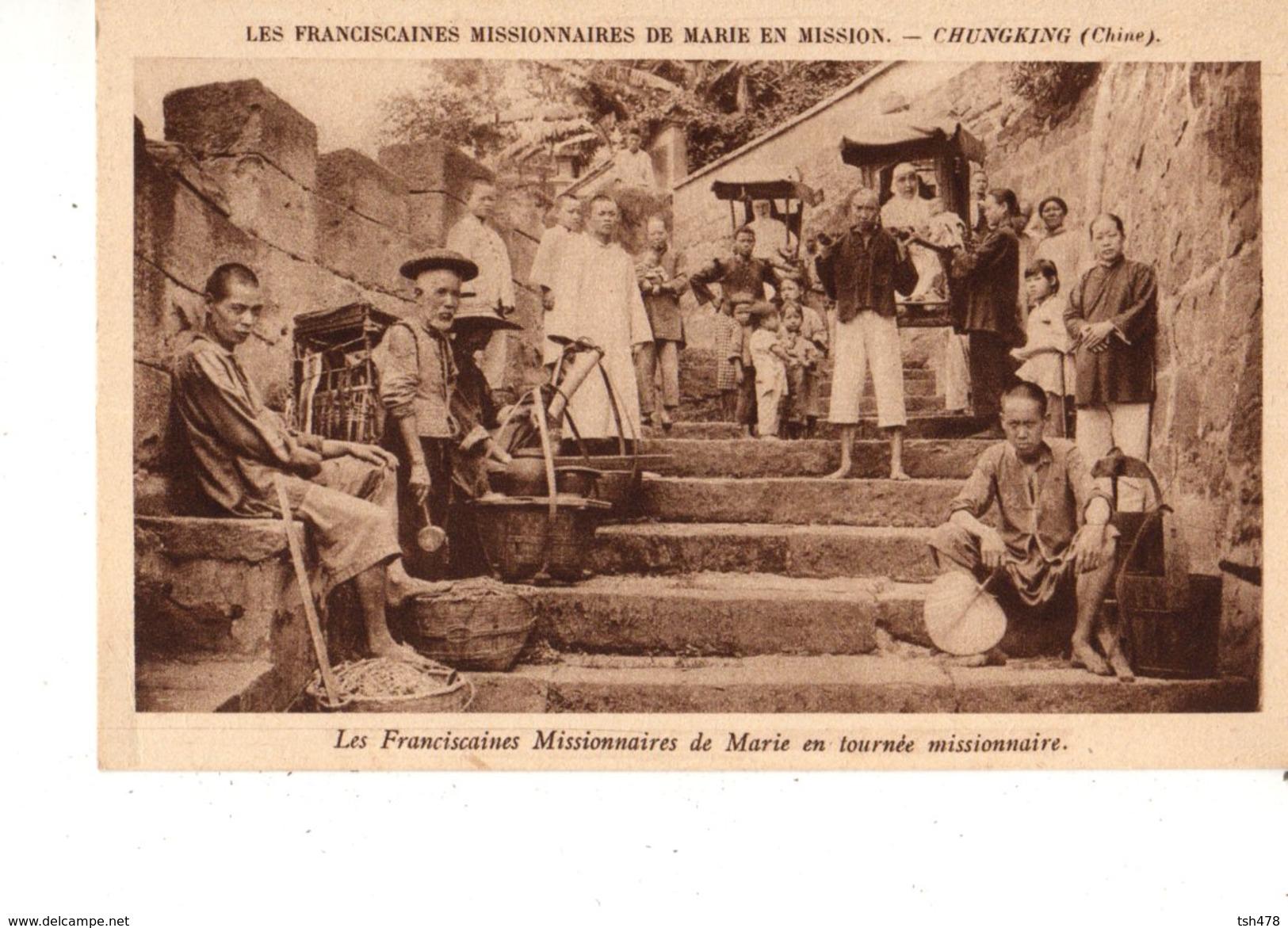 ASIE---CHINE---CHUNGKING----les Franciscaines Missionnaires De Marie En Mission--voir 2 Scans - Chine