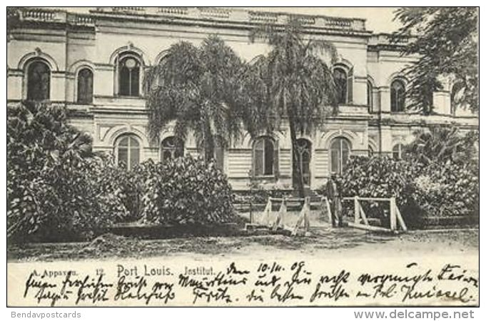 Mauritius Maurice, PORT LOUIS, Institut (1909) - Mauritius
